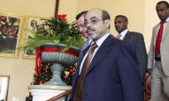 Ethiopian Prime Minister Meles Zenawi shown at the IGAD summit in Addis Ababa, Nov. 25, 2011.